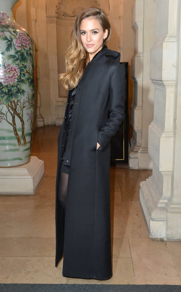 Jessica Alba arrived at the CR Fashion Book Issue 2 launch party in Paris on Tuesday night.