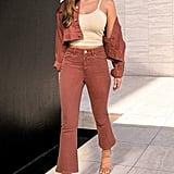 DL1961 x Marianna Hewitt Annie Crop Denim Jacket and Bridget Instasculpt High Waist Crop Bootcut Jeans