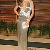 Miranda Kerr wore a shimmering number.