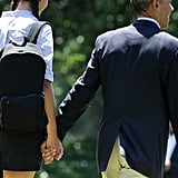 This heartwarming father-daughter moment between Barack and Malia came just in time for Father's Day.