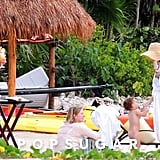 Flynn hung out with mom Miranda Kerr in Mexico.