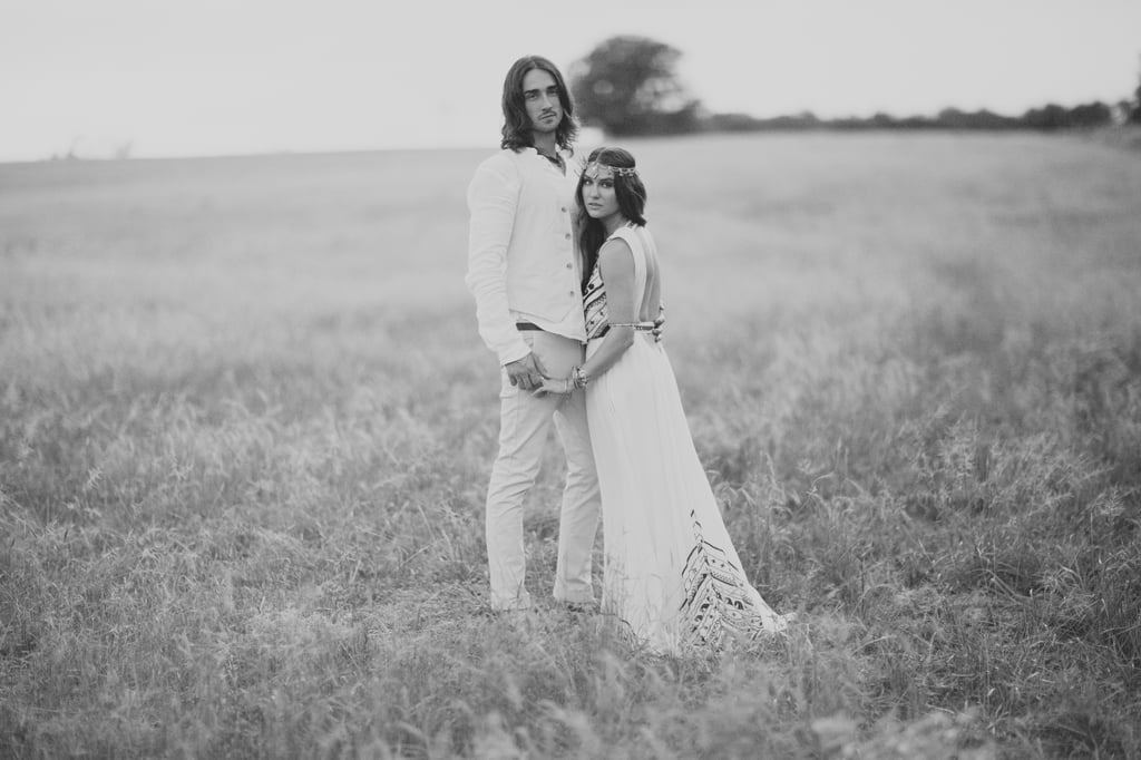 This Bohemian-Texan Wedding Will Have You Dreaming in Black-and-White