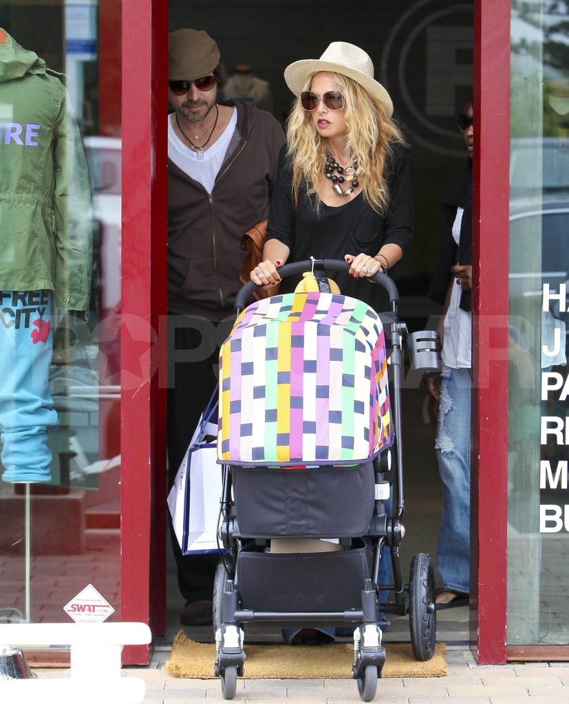 Rachel Zoe and Rodger Berman had their son, Skyler, along for a shopping trip.