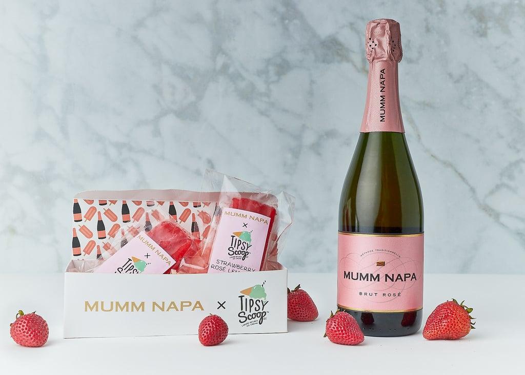 Mumm Napa Brut Rosé Strawberry Lemonade Popsicle