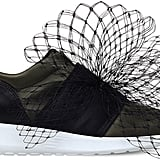 The exaggerated netting on Kurt Geiger's London Letty Net Details Satin Trainers ($189) is definitely noticeable enough.
