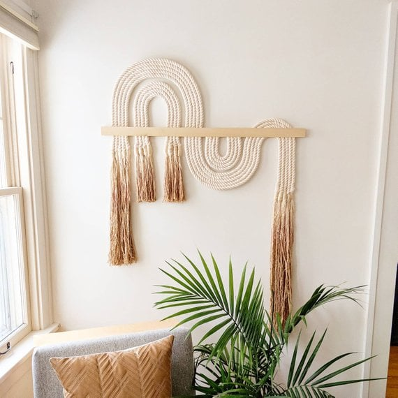 Large Ebb and Flow Macrame Wall Hanging
