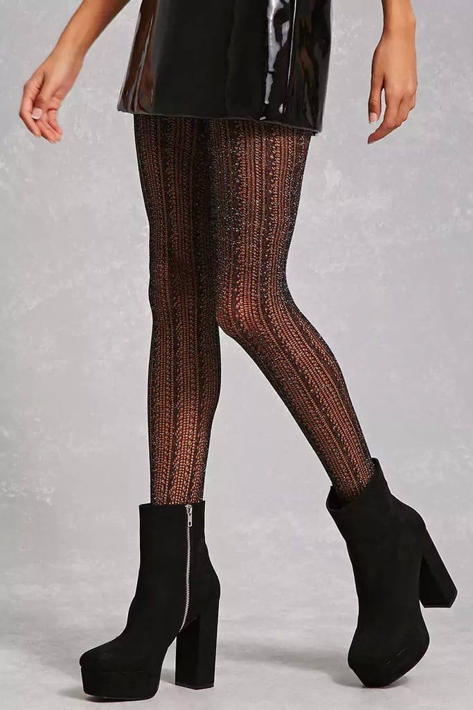 Forever 21 Sparkly Metallic Tights