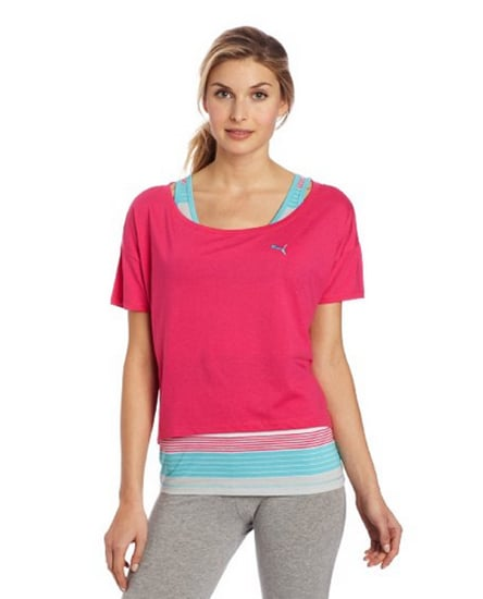 This cozy and bright Puma Core Drapy Top ($40) is perfect for layering over a tank top during the Spring but can just be worn over a sports bra in the Summer.