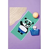 Panda Beach Towel Blue