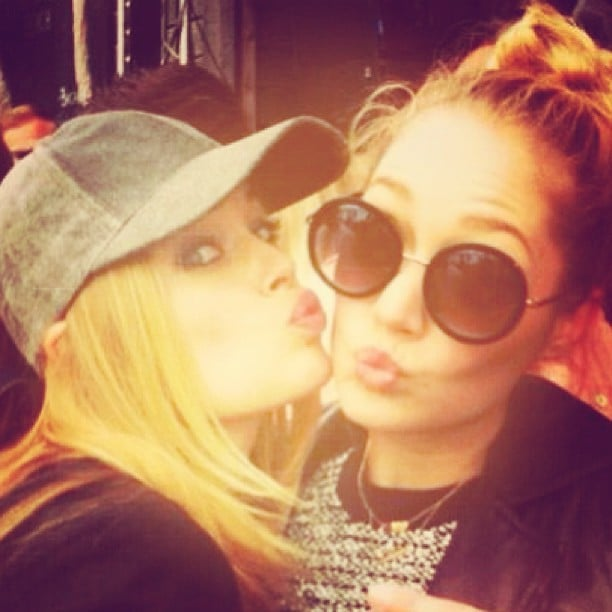 Doutzen Kroes and her sister took in a DJ set by her Doutzen's husband, Sunnery James. Source: Instagram user doutzen