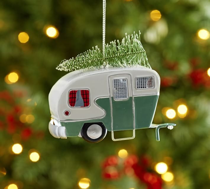 camper and tree ornament - Camper Christmas Decorations