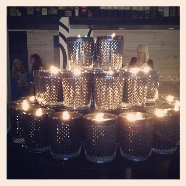 Scented black candles at Kirrily Johnston.