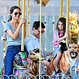 Tom Cruise and Katie Holmes took Suri for a carousel ride in Pittsburg.