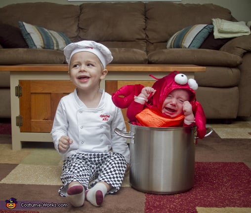 Chef and lobster matching sibling costumes for kids halloween chef and lobster solutioingenieria Images