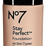 No7 Stay Perfect Foundation Broad Spectrum SPF 15 ($16) comes in 15 shades.