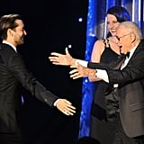 Brad Ditches His Cane and Proudly Escorts Angelina to the Producers Guild Awards