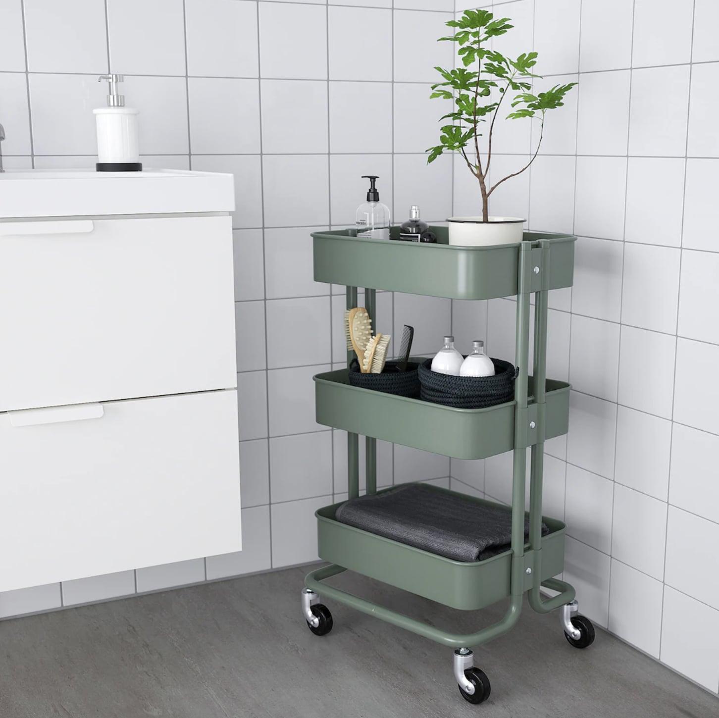Raskog Utility Cart 50 Genius Bathroom Organization Products You Need From Ikea Popsugar Home Photo 43,700 Square Foot House Floor Plans