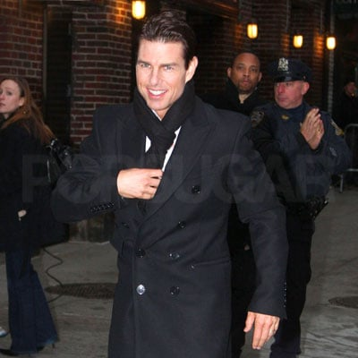Tom Cruise Heads into the Late Show