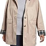 Halogen Hooded Mac Rain Jacket