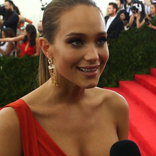 Hannah Davis Met Gala Interview | Video