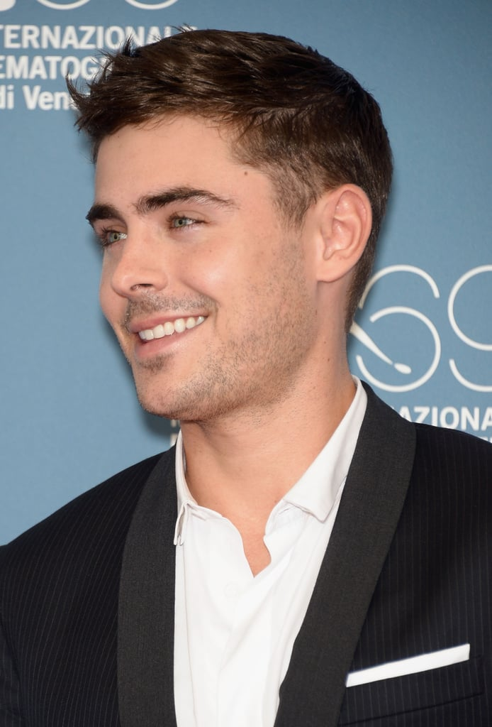 Zac Efron put on a smile for the cameras at the At Any Price photocall at the Venice Film Festival.