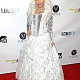 Snooki was dressed to the nines as a snow queen of sorts at her Night of the Living Drag event with JWoww.
