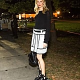 Karolina Kurkova joined the Global Citizen Festival crowd in chic black-and-white designs.