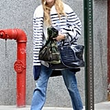 Ashley Olsen wore a pair of flats.