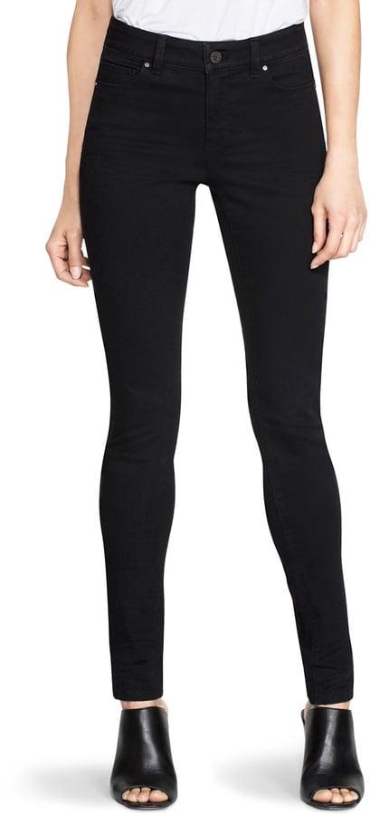 White House Black Market Saint Honore Black Mid-Rise Skinny Jeans ($78)