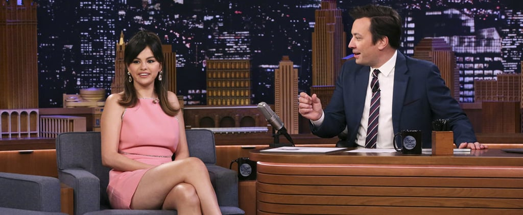 Selena Gomez Wears Miu Miu Dress on The Tonight Show