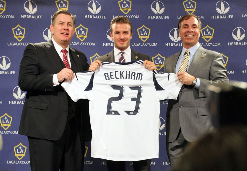 David Beckham showed off his #23.