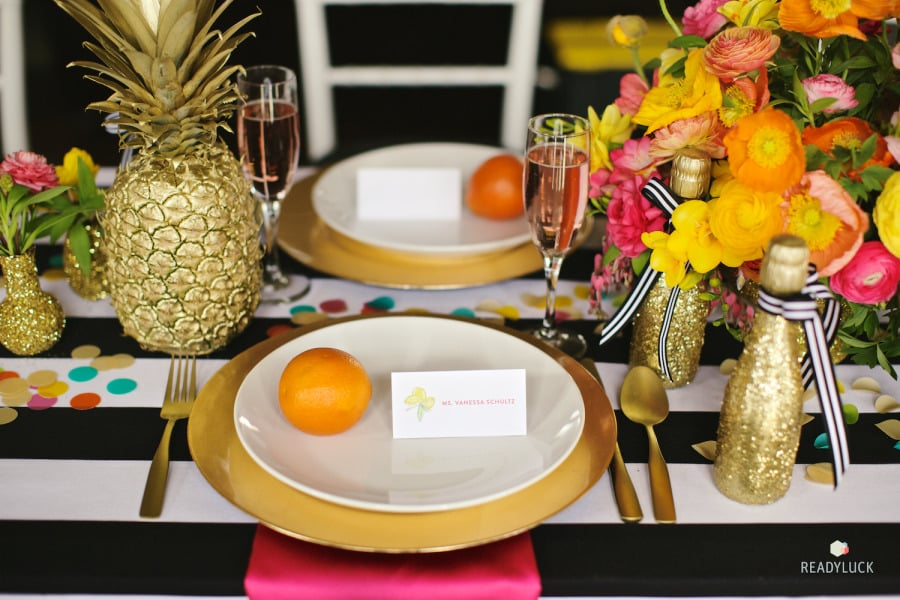 When A Coat Of Sparkly Gold Spray Paint Covers The Tabletop Decor, No One  Will