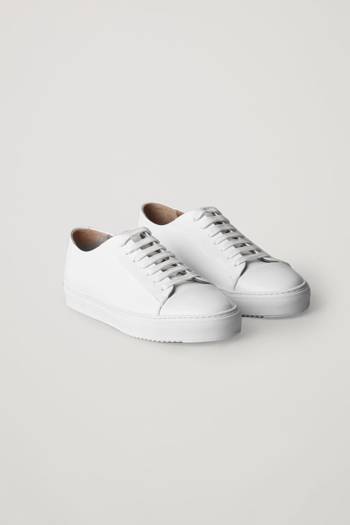 COS Rubber-Detailed Leather Sneakers