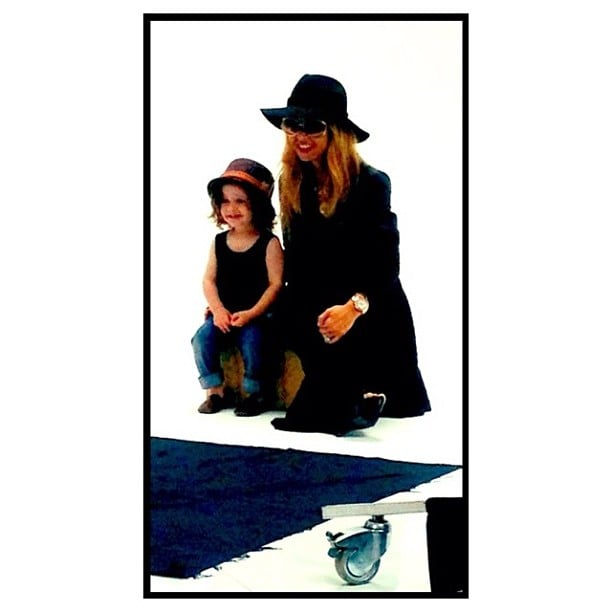 Rachel Zoe had a little visitor to the office this week — and he matched her perfectly! Source: Instagram user rachelzoe