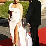 Her Stunning White Gown