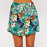 Pretty Little Thing Paige green hawaiian print shorts (£8)