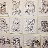 Forget caricatures, only cat-catures are worth posing for.