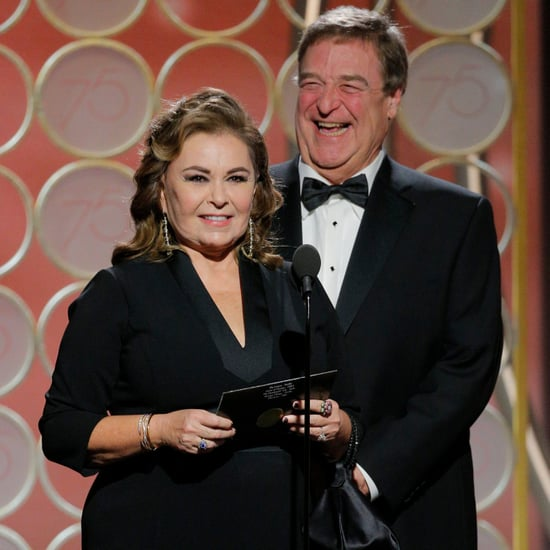 John Goodman and Roseanne Barr at 2018 Golden Globes