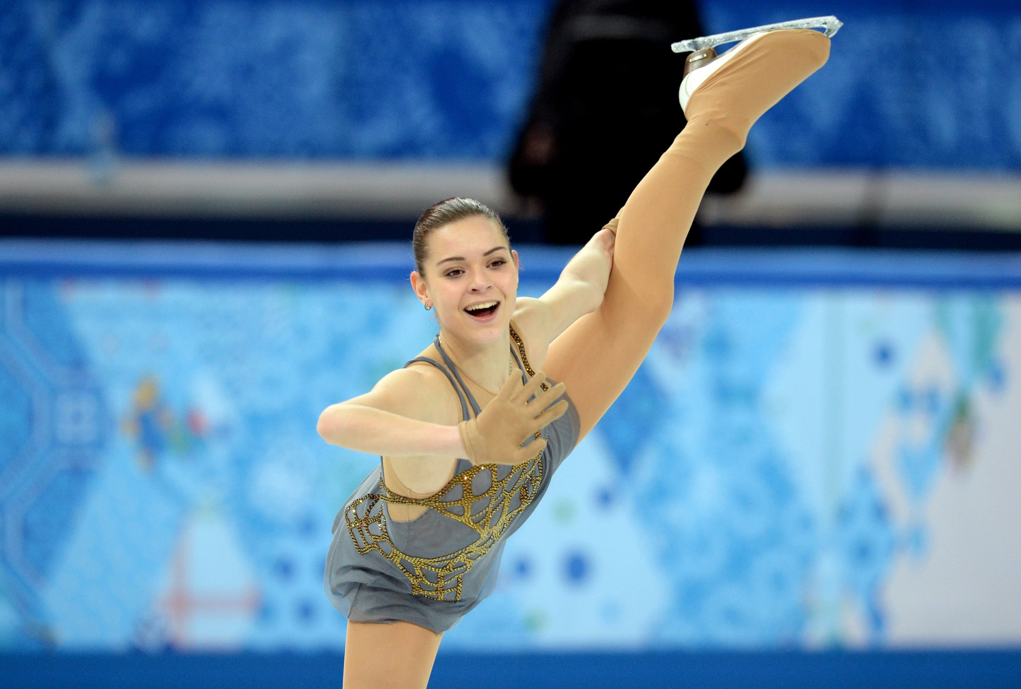 Next up was Russian Adelina Sotnikova, 17, who waved to the judges and crowd during her program.