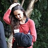Katie Holmes headed home after a dance class.