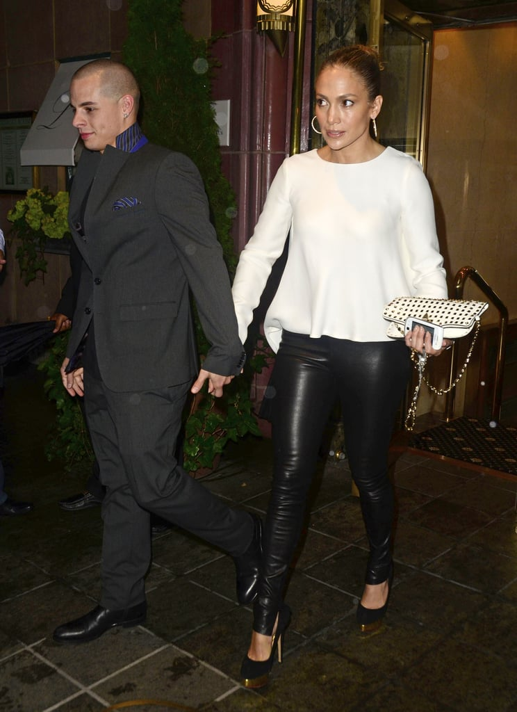 Jennifer Lopez and Casper Smart left dinner in NYC.