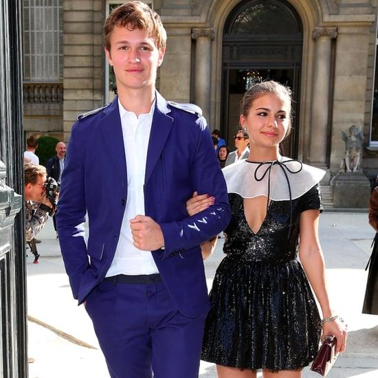 Ansel Elgort With Girlfriend Violetta Komyshan