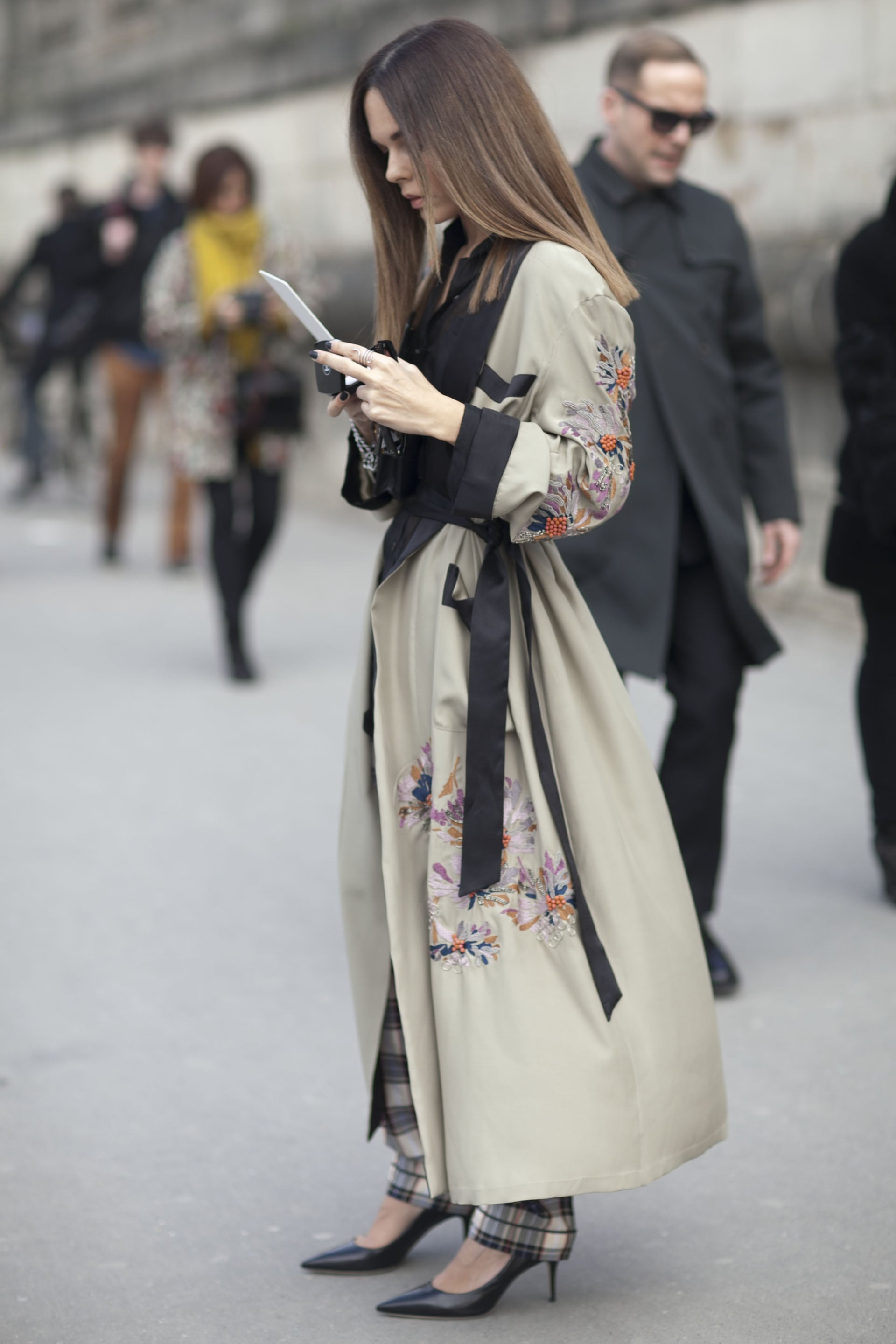 This luxurious kimono-style coat was a showstopper on the ...