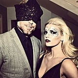 "Before a Halloween party in 2014, Jessica shared this photo, writing, ""When your husband doesn't have a mask... A Hanky Panky lace option will be the hit of the party!!!"""