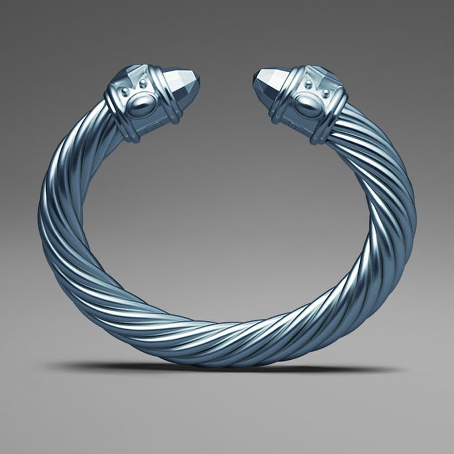 David Yurman Light Blue Aluminum Cable Bracelet