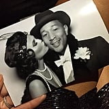 John Legend wore a top hat and a crisp white bow tie!