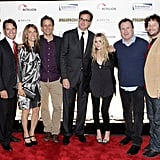 The red carpet at the Cool Comedy - Hot Cuisine for Scleroderma Research Foundation event in NYC.