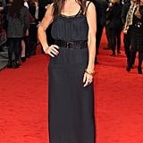 Sandra Bullock turned heads in a black Victoria Beckham dress.