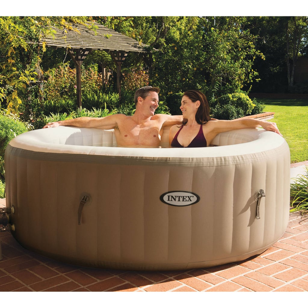 Summertime PSA: Walmart is selling inflatable hot-tub spas with massaging jets, and they start at $299. So if you're looking to relax and unwind, you could treat yourself to a $150 massage, a $45 mani-pedi, a $70 facial, and a $40 sauna pass at your local day spa . . . or you could spend about the same amount to treat yourself all Summer long, year after year. The better choice is obvious, no?  The inflatable hot tubs are portable, so you don't have to worry about losing your investment when you move or the spa taking up space in your yard during the off-season. Heck — if you wanted, you could even bring it camping! Plus, the inflatable spas range in size from four-seat to six-seat, so everybody in the family can relax in your new blow-up oasis.  Ahead, shop several different inflatable spa options; soon, you'll wonder how you ever did Summer without one.