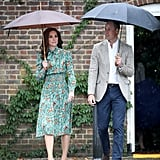 William and Harry at Princess Diana Garden Kensington Palace